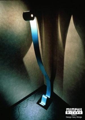 Nastro floor lamp, Gary Morga,Memphis Milano.